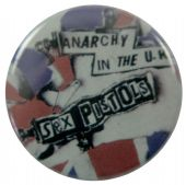 Sex Pistols - 'Anarchy UK Flag' Button Badge